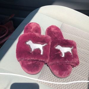 Pink by Victoria secret slippers